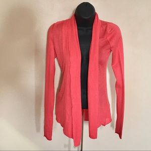 express / coral open front layer cardigan xsmall